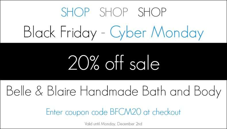 Black Friday Cyber Monday 20% Off Sale