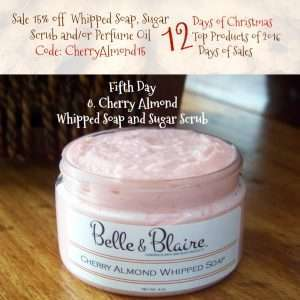 Fift Day Cherry Almond Whipped Soap Sugar Scrub