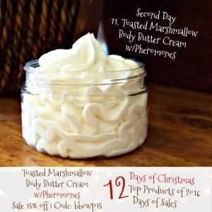 Toasted Marshmallow Body Butter Cream with Pheromones