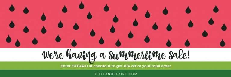 A Summertime Sale – 10% Off!