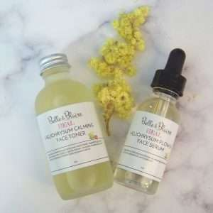 Heal – Helichrysum Flower Serum and Helichrysum Calming Toner Duo