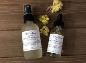 Heal – Helichrysum Flower Serum and Helichrysum Calming Toner Duo