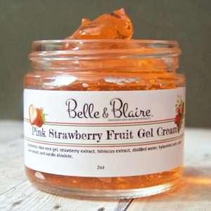 Pink Strawberry Fruit Gel Cream