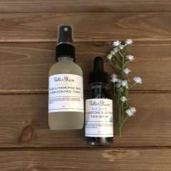 Balance – Moonstone Blue Tansy Face Serum & Rose Chamomile Face Toner Duo