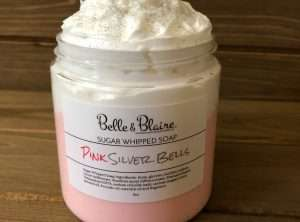 Pink Silver Bells Sugar Whipped Soap
