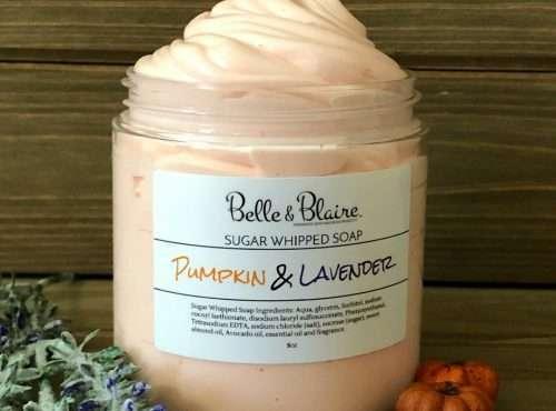 Pumpkin Lavender Sugar Whipped Soap